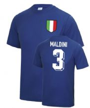 Paolo Maldini Italy World Cup Football T Shirt